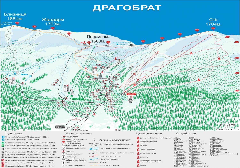 карта драгобрата