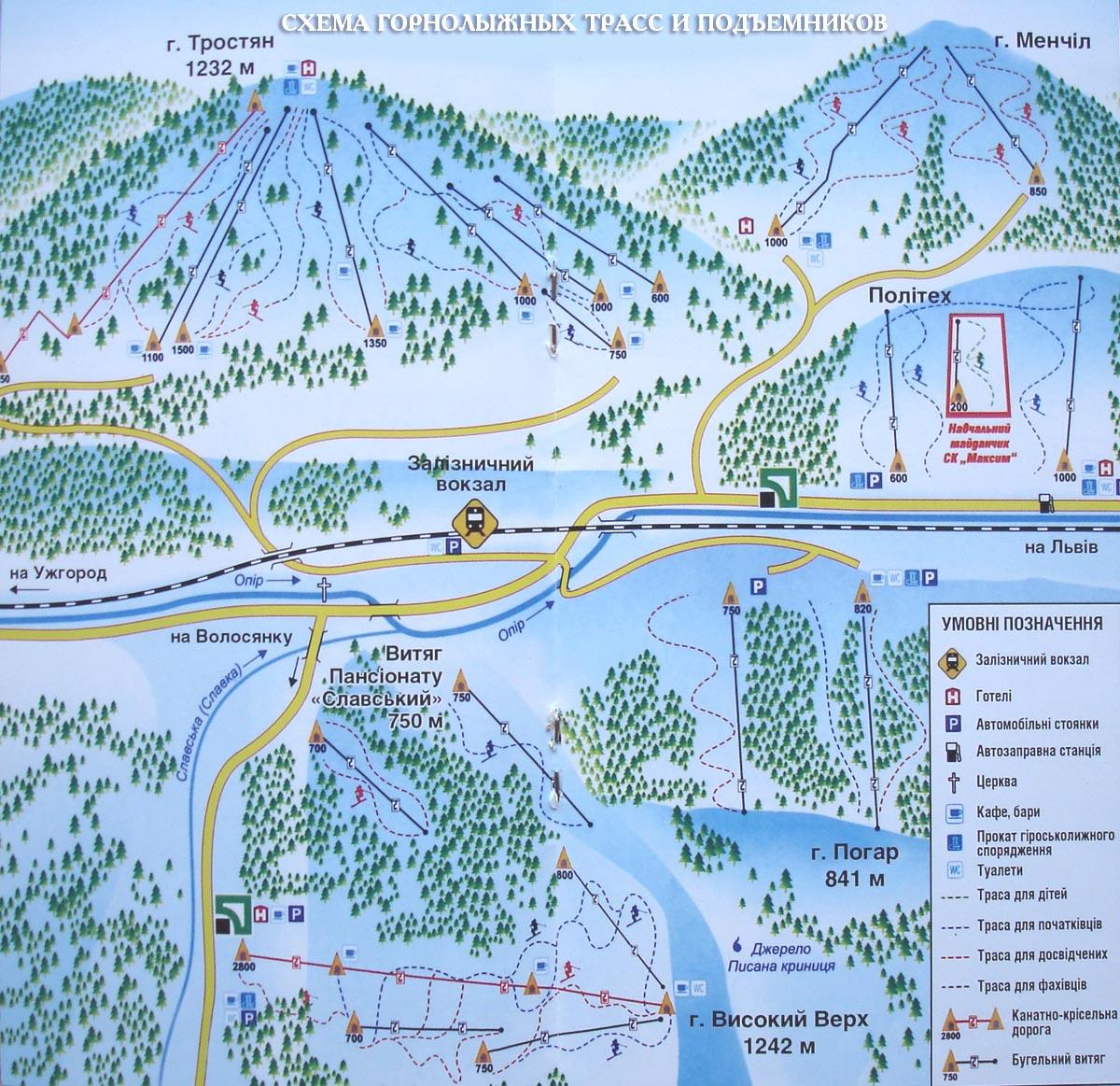 карта трасс славское